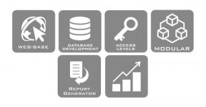 Web-Based, Database Development, Access Levels, Modular, Report Generator, Graphs