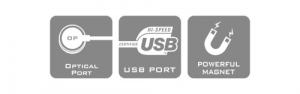 Optical Port, USB Port, Powerfull Magnet